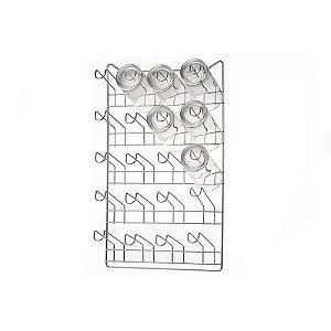 Porta Copos de Parede para 20 Unidades Arthi Cromado