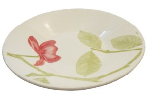 Prato de Porcelana Fundo Decorado Beauty Actual Biona Oxford 22 Cm