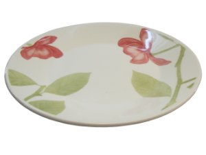 Prato de Porcelana Raso Decorado Beauty Actual Biona Oxford 26 Cm