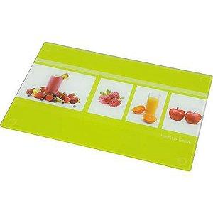 Tabua de Vidro para Corte Doce Cozinha Mor Decorado 30 Cm, 40 Cm