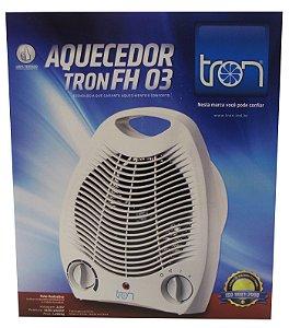 Aquecedor Eletrico Portatil para Ambientes Tron Branco   220 V