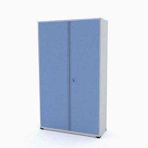 Armario de Aco Montavel Economico Especial Ap403 Pandin Cinza e Azul Dali
