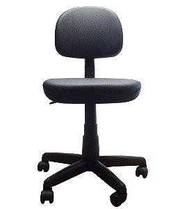Cadeira Secretaria Giratoria em Corino com Base Preta Plaxmetal Preto