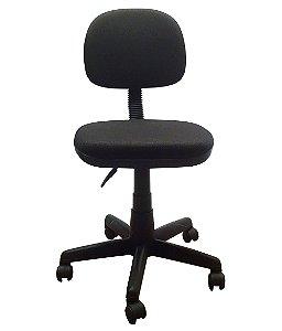 Cadeira Secretaria Giratoria em Tecido com Base Preta Plaxmetal Preto