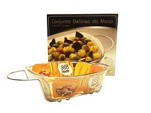 Conjunto Delicias Da Mesa Quadrada com 2 Pecas Top Line