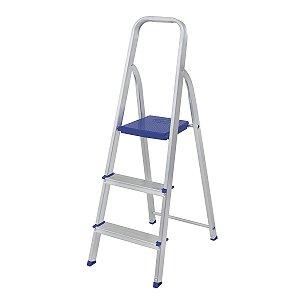 Escada de Aluminio 3 Degraus Mor