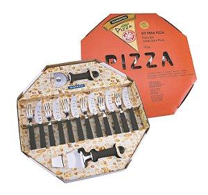 Kit para Pizza 14 Pecas Tramontina Preto
