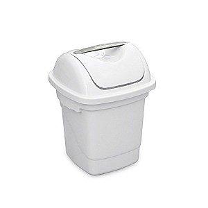 Lixeira Plastica Basculante Plasvale  Branco  10 Lt