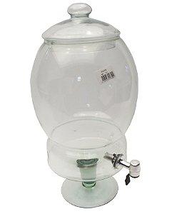 Suqueira Cristal Glass Transparente 22 Cm, 42 Cm 7.0 Lt