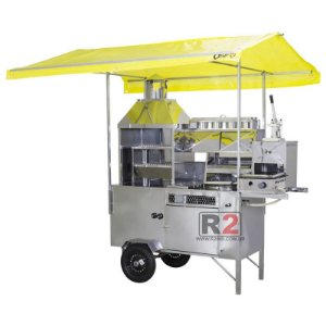 Carrinho 5 em 1 Hot-dog Pastel Batata Lanche e Churrasco R2 Branco  1,70 M