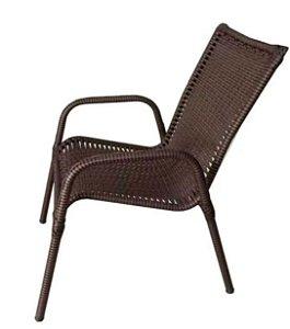 Cadeira Fixa Entrelacada Luxo Jonas  Marrom
