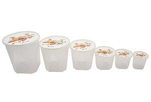 Porta Mantimento com 6 Pecas de Plastico Nutrientes Jaguar