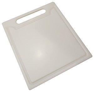 Tabua de Cozinha para Corte em Polietileno Solrac Branco 24 Cm, 20 Cm