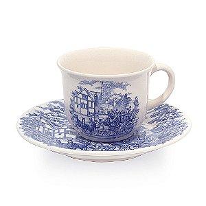 Xicara de Porcelana para Cafe com Pires Cena Inglesa Biona Oxford