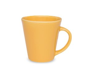 Caneca de Louca Drop Biona Oxford Amarelo  250 Ml