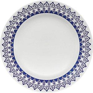 Prato de Porcelana De Sobremesa Decorado Donna Grecia Biona Oxford 18 Cm