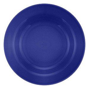 Prato de Porcelana Liso Fundo Donna Azul Biona Oxford Azul 23 Cm