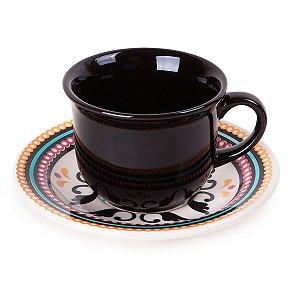 Conjunto de Xicaras para Cafe com 12 Pecas Floreal Luiza Oxford