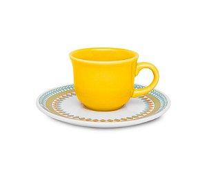 Conjunto de Xicaras para Cafe com 12 Pecas Floreal Bilro Oxford