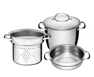 Jogo de Panelas Multi Cooker em Aco Inox 20 Cm