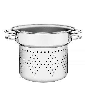 Cozi-pasta em Aco Inox Solar Tramontina 24 Cm 8 Lt