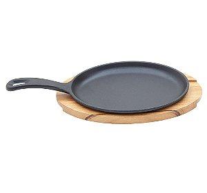 Mix Grill Oval com Alca para Churrasco em Madeira Muiracatiara Tramontina 30 Cm, 18 Cm