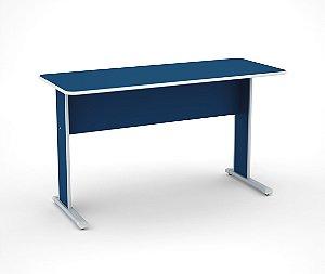 Mesa para Escritorio Secretaria Maxxi Pandin Azul e Cinza  1,0 M