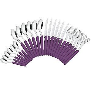 Faqueiro com 24 Pecas Carmel Tramontina Purpura