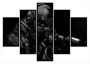 Quadro Mosaico 5 Partes Sniper Call Of Duty Ghosts Moldura Preta Art e Cia