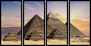 Quadro Mosaico 4 Partes Reto Egito Piramides No Deserto Art e Cia