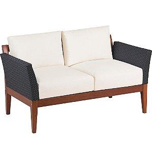 Sofa de Madeira em Jatoba com Encosto e Assento Estofado Tramontina 70 Cm