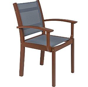 Cadeira de Madeira em Jatoba com Acabamento Eco Blindage Tramontina