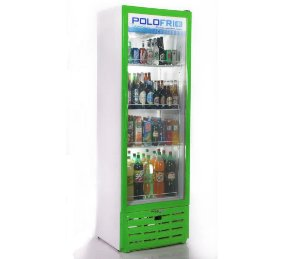 Geladeira Visa Cooler Slin Polofrio Verde  315 Lt 220 V