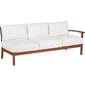 Sofa em Jatoba com Acabamento Eco Blindage Estofado Impermeavel Tramontina Branco 70 Cm
