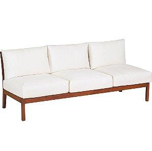 Sofa 3 Lugares Sem Bracos C/ Madeira Jatoba e Estofado Acquablock Fitt Tramontina