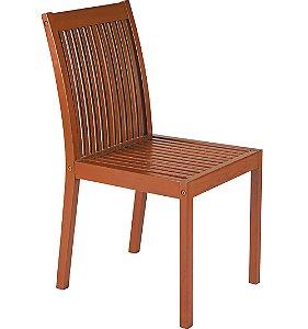 Cadeira de Madeira em Jatoba com Acabamento Eco Blindage Sem Braco Tramontina 90 Cm