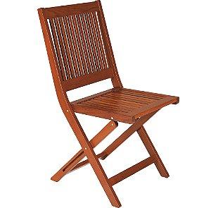 Cadeira de Madeira Dobravel em Jatoba com Acabamento Eco Blindag Sem Braco Tramontina 91 Cm