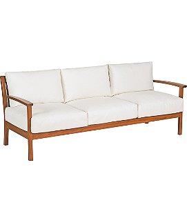 Sofa em Madeira Jatoba com Acabamento Eco Blindage e Estofado Impermeavel Com Braco Tramontina