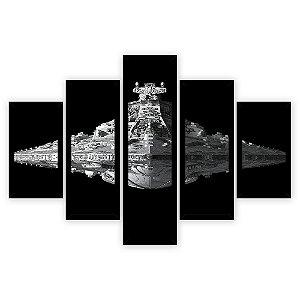 Quadro Mosaico 5 Partes Diferentes Star Wars Quero Mais Quadros Preto