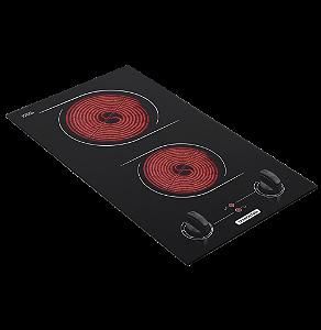 Fogao Cooktop 2 Queimadores Eletrico Domino 2ev 30 Tramontina 220 V