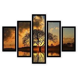 Quadro Mosaico 5 Partes Diferentes A Arvore Da Vida Quero Mais Quadros Preto