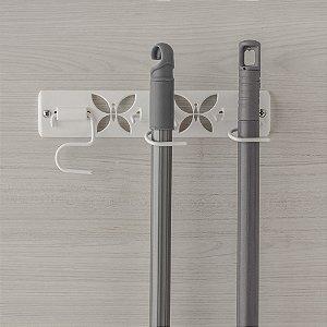 Porta Vassouras Borboleta Metaltru Branco