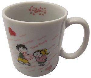 Caneca em Ceramica Namorados  amo Voce'  Koisas de Kozinha 300 Ml