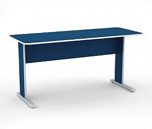 Mesa para Escritorio Gerencia Maxxi Pandin Azul e Cinza  1,50 M