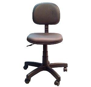 Cadeira Secretaria Giratoria em Corino com Base Preta Solid Preto