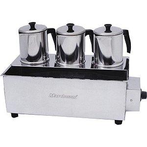 Esterilizador Inox com 3 Bules Luxo Termostato Marchesoni 220 V