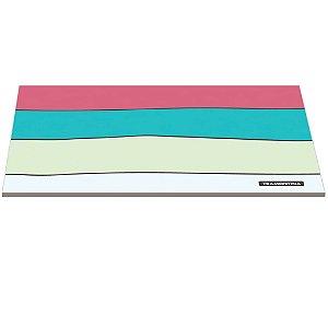 Tabua de Vidro Retangular com Estampa Colorida Glass Tramontina 35 Cm, 25 Cm