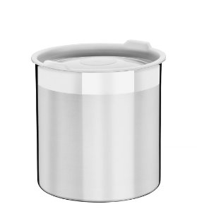 Pote para Mantimentos Inox com Tampa Plastica Cucina Tramontina 14 Cm