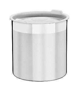 Pote para Mantimentos Inox com Tampa Plastica Cucina Tramontina 16 Cm