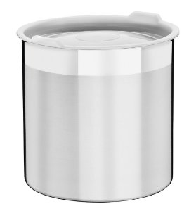 Pote Inox com Tampa Plastica Cucina Tramontina 18 Cm